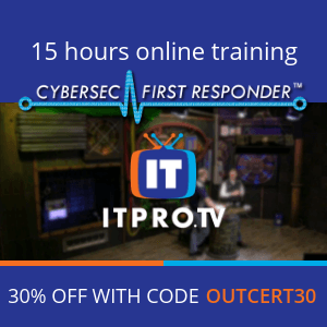 ITPro.TV CFR Cybersec First Responder CertNexus 30% OFF Coupon Code | OUTCERT